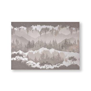 Art For The Home canvas schilderij Landschap - grijs - 100x70 cm