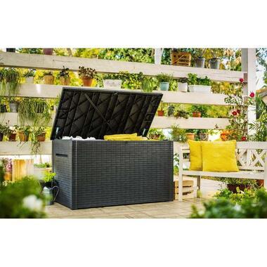 Keter opbergbox Java 870L - grijs - 147x83x86 cm - Leen Bakker