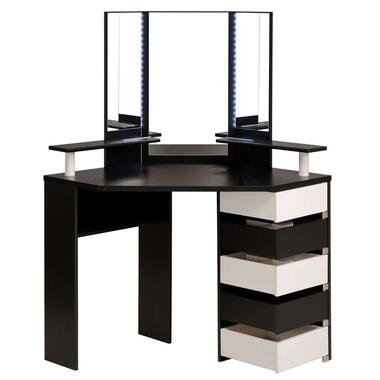 Kaptafel Volage - zwart/wit - 142x113,5x61 cm - Leen Bakker