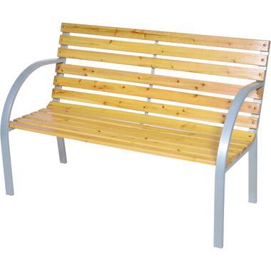 Bank Woodstock - bruin/zilverkleurig - 60x120x39 cm - Leen Bakker