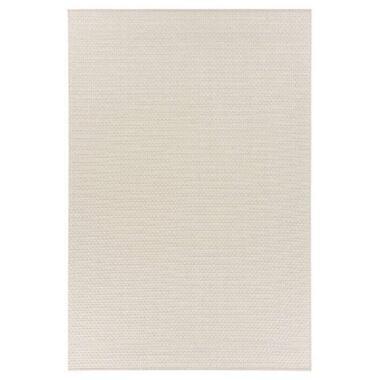 Floorita binnen/buitenvloerkleed Pallino - ecru - 194x290 cm - Leen Bakker