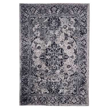 Floorita Easy-care vloerkleed Edessa - grijs/zwart - 160x230 cm - Leen Bakker