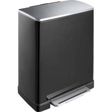 EKO pedaalemmer E-Cube - zwart - 50l - Leen Bakker
