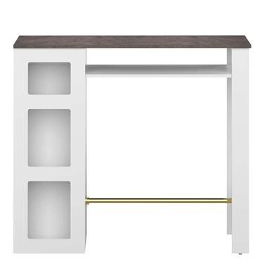 Symbiosis bartafel Farre - wit/betonkleur - 103,3x115x50 cm - Leen Bakker