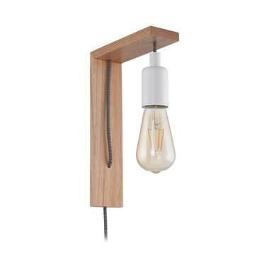 EGLO wandlamp Tocopilla - bruin/wit - Leen Bakker