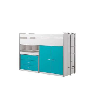 Vipack halfhoogslaper Bonny - turquoise - 227x150x94,6 cm - Leen Bakker