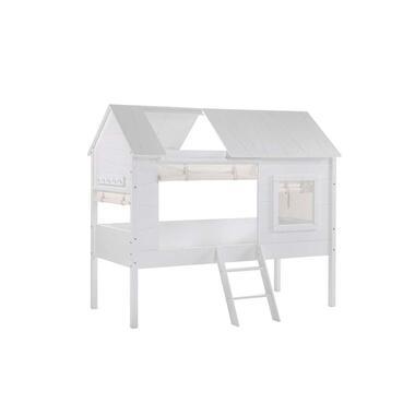 Vipack set gordijntjes Charlotte - wit - 200x40x265 cm - Leen Bakker