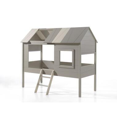 Vipack boomhut halfhoogslaper Charlotte - grijs/beige - 209,3x136,7x185,2 cm - Leen Bakker