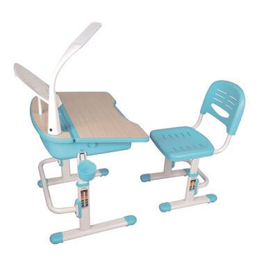 Vipack kinderbureau Comfortline met stoel - blauw - 70x54,5x51 cm - Leen Bakker