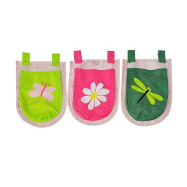 Vipack 3 zakjes Spring - roze - 51.5x30x3 cm