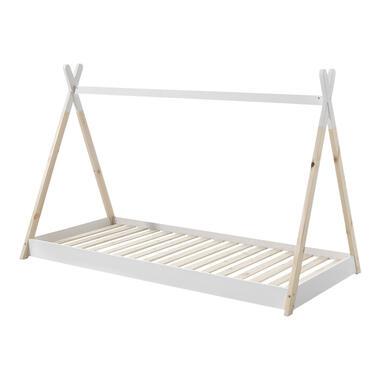 Vipack Bed Tipi - wit/naturel - 90x200 cm - Leen Bakker