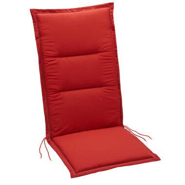 Summerset terrasstoelkussen Club - rood - 120x50 cm - Leen Bakker