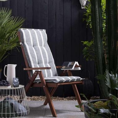 Summerset terrasstoelkussen Weston - grijs - 120x60 cm - Leen Bakker