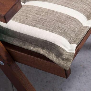 Summerset terrasstoelkussen Weston - taupe - 120x60 cm - Leen Bakker