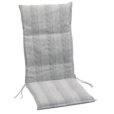 Summerset terrasstoelkussen Brighton - grijs - 120x60 cm - Leen Bakker