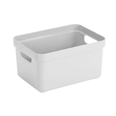 Sigma home box 13 liter - wit - 18,3x25,3x35,2 cm - Leen Bakker