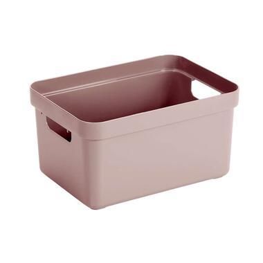 Sigma home box 13 liter - roze - 18,3x25,3x35,2 cm - Leen Bakker