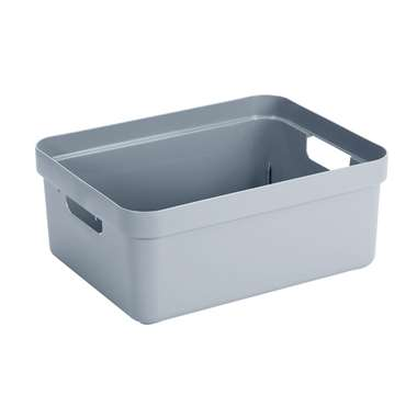 Sigma home box 24 liter - blauwgrijs - 18,3x35,4x45,3 cm - Leen Bakker