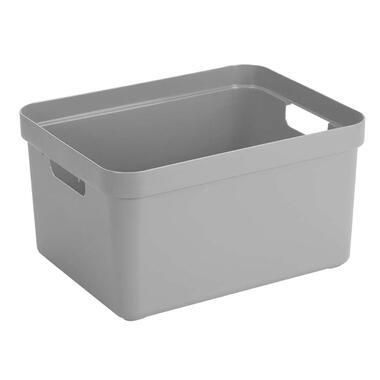 Sigma home box 32 liter - lichtgrijs - 24,3x35,4x45,3 cm - Leen Bakker