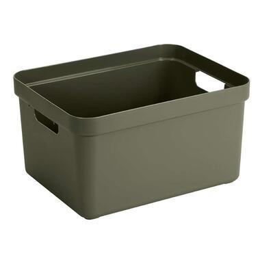 Sigma home box 32 liter - donkergroen - 24,3x35,4x45,3 cm - Leen Bakker