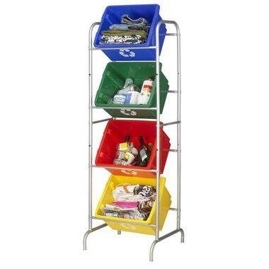 Nesta eco opbergbox 32 liter - blauw - 24x36x45,5 cm - Leen Bakker
