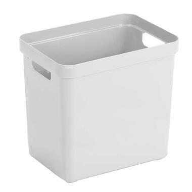 Sigma home box 25 liter - wit - 36,3x25x35 cm - Leen Bakker