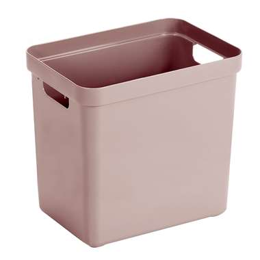 Sigma home box 25 liter - roze - 36,3x25x35 cm - Leen Bakker
