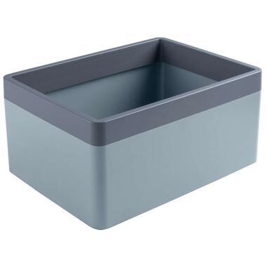 Sigma home organizer 3,3 liter - blauwgrijs/donkerblauw - 11,4x18x24 cm - Leen Bakker