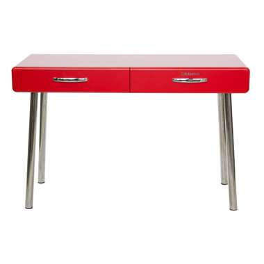 Tenzo bureau Cobra 2 lades - rood - 76,5x120x50 cm - Leen Bakker