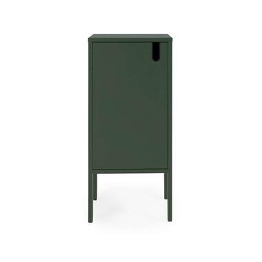 Tenzo wandkast Uno 1-deurs - groen - 89x40x40 cm - Leen Bakker