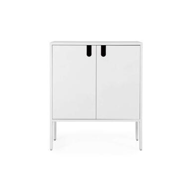 Tenzo wandkast Uno 2-deurs - wit - 89x76x40 cm - Leen Bakker