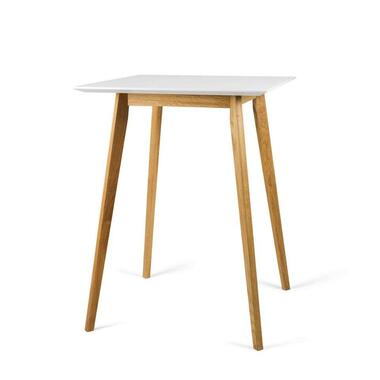 Tenzo bartafel Bess - wit/eiken - 105x80x80 cm - Leen Bakker