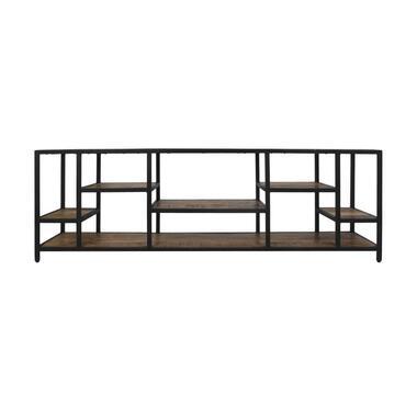 Tv-meubel Levels - naturel/zwart - 170x55x38 cm - Leen Bakker