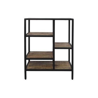 Wandkast Levels - naturel/zwart - 81x60x35 cm - Leen Bakker