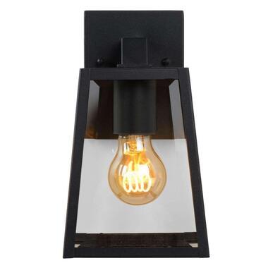 Lucide wandlamp Matslot - zwart - 14,2x13x24,6 cm - Leen Bakker