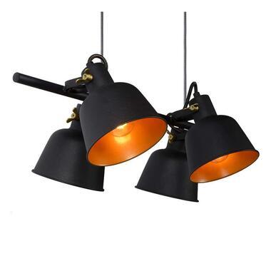 Lucide hanglamp Pia - zwart - 87x35x150 cm - Leen Bakker