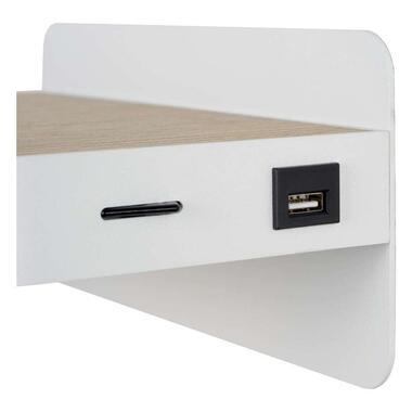 Lucide bedlamp Atkin - wit - 14x25x11,5 cm - Leen Bakker