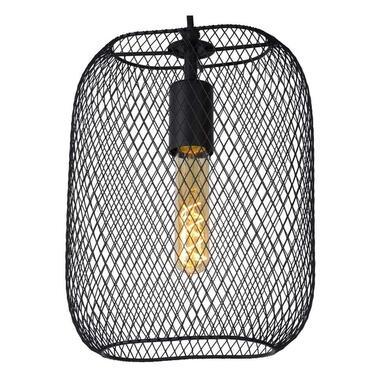 Lucide hanglamp Mesh zwart 235x12x160 cm Leen Bakker