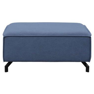 Hocker Jack - jeansblauw - 44x96x75 cm - Leen Bakker