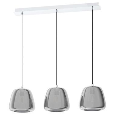 EGLO hanglamp 3-lichts Albarino - chroom - Leen Bakker