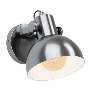 EGLO wandlamp Lubenham 1 - nikkel/crème - Leen Bak