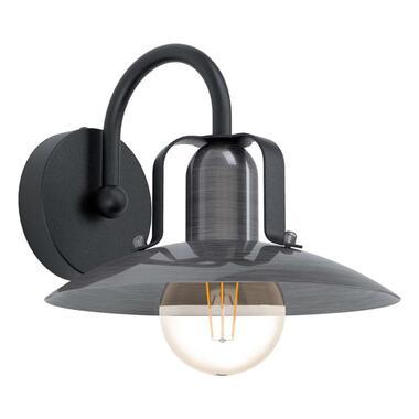 EGLO wandlamp Kenilworth - nikkel/zwart - Leen Bakker