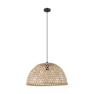 EGLO hanglamp Claverdon Ø49 cm - zwart/hout - Leen Bakker