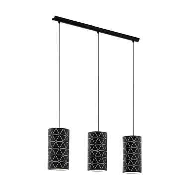 EGLO hanglamp 3-lichts Ramon zwart Leen Bakker