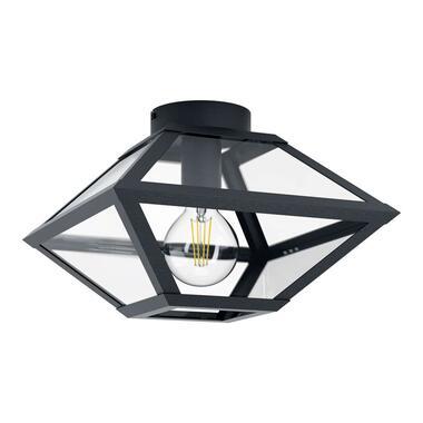 EGLO plafondlamp Casefabre 31x31 cm - zwart - Leen Bakker