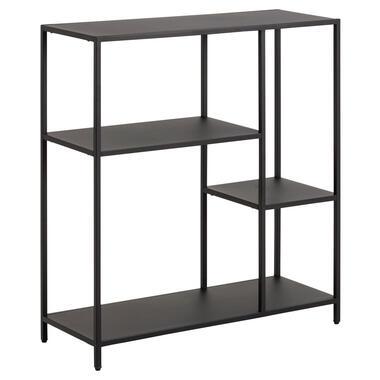 Boekenkast Jaxx - zwart - 86x79,5x30 cm - Leen Bakker