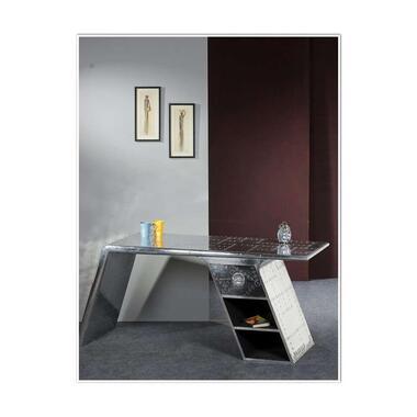 Bureau Robo - zilverkleur - 75x175x60 cm - Leen Bakker