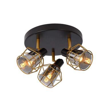 Lucide plafondspot Nila 3 lamp - zwart - Leen Bakker