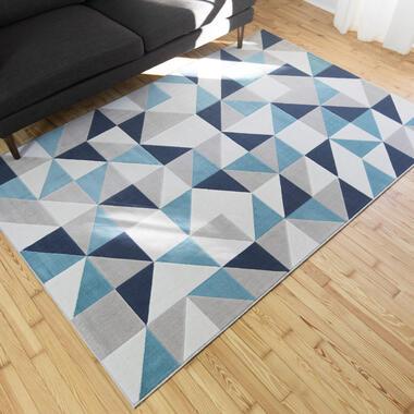 Vloerkleed Montagu - blauw - 160x230 cm - Leen Bakker