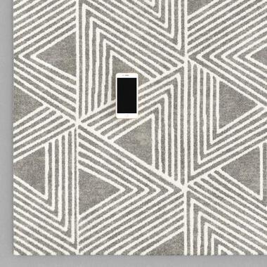 Vloerkleed Picota - grijs - 160x230 cm - Leen Bakker